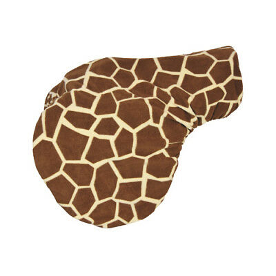 Spartan Fleece Saddle Cover Giraffe Print