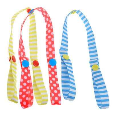 3 Pieces Stroller Strap Anti Drop Toy Fastening Clips Hanger