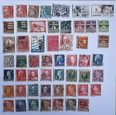 Denmark - used stamps - small collection Danish stamps