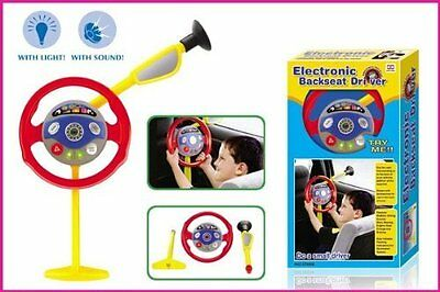 Baby Child Car Back Seat Driver Toy Car Steering Wheel Game Toy Boy Girl Driving