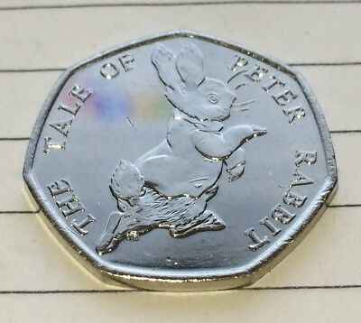 The Tale Of Peter Rabbit Beatrix Potter 50p Fifty Pence coin 2017 - Free Postage