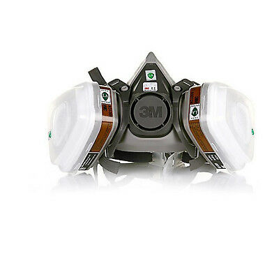 For 3M 6200 6001 7pcs Suit Respirator Painting Spraying Face Gas Mask 5N11 New