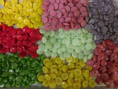 450 LOT OLD CZECH VINTAGE GLASS BUTTONS 13mm