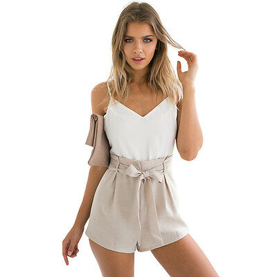 Womens Summer Celeb Sexy Mini Playsuit Ladies Jumpsuit Shorts Beach Sun Dress