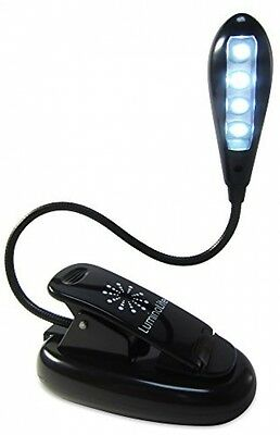 LED Book Light Rechargeable Extra-Bright 4 , Easy Clip On Reading desk work pc