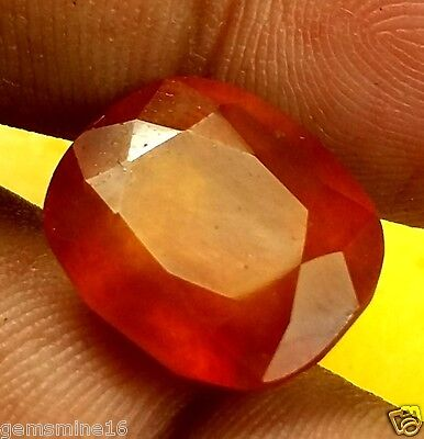 14.63 CT HESSONITE 100 % Natural GIE Certified AAA+ Excellent Quality INDIAN Gem