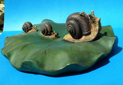Snail Family On Lilypad Pond Or Swimming Pool Floater Nib Garden Decor