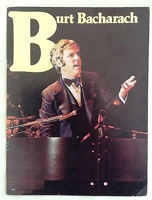 BURT BACHARACH & ANTHONY NEWLEY. In concert Programme.