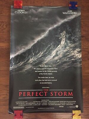 The Perfect Storm (2000) Authentic One Sheet Double Sided Movie Theater Poster.