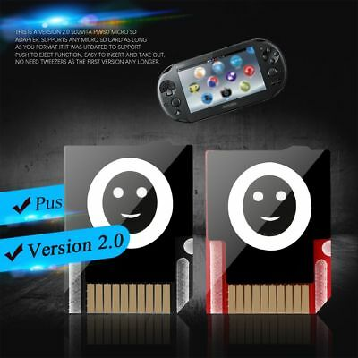 1/2pcs  Version 2.0 Push To Eject Memory Card Converter for PS Vita Henkaku 3.60
