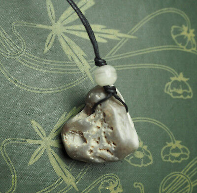 Polished Natural Hag/ Holed Stone Pendant for Luck & Protection - Pagan, Wicca