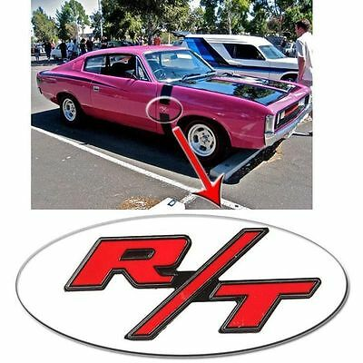 R/T BOYZ Large Metal Chrome Stick on R/T CHARGER emblem NEW (H15)= Skull Boyz SA