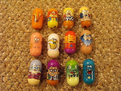 Lot of 10 Older Mighty Beanz & 2 Jimmy's Toy Box Beans
