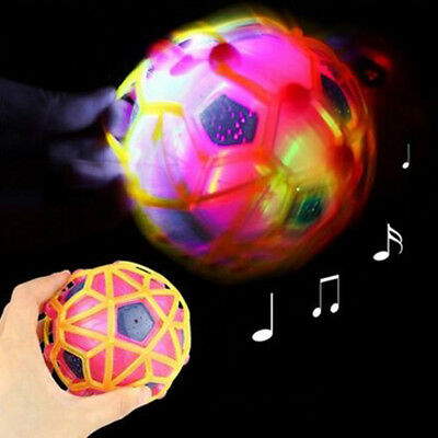 LED Flashing Ball Jumping Crazy Bouncing Ball Football For Children Toy
