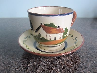 Watcombe / Devon / Motto Ware  - Cup And Saucer