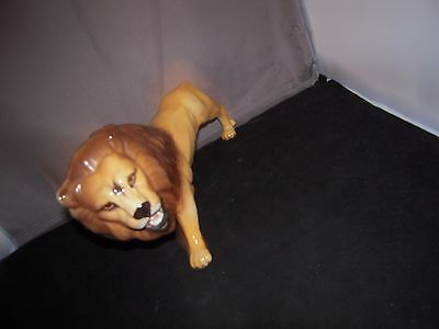 Beswick Lion - Large Gloss Figurine approx. 9.5 inches Long. Lovely Condition.