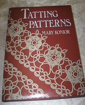 1989 Tatting Patterns by Mary Konior Book Nice