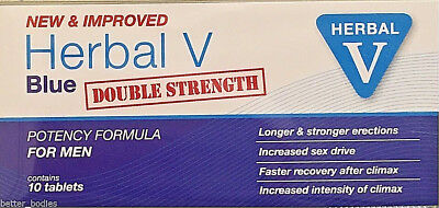 20 Herbal Blue Sex Tabs Strong Supplement For Men