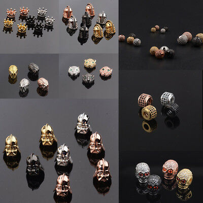 Star War Crown Superman Helmet Zircon Gemstones Bracelet Connector Charm Beads