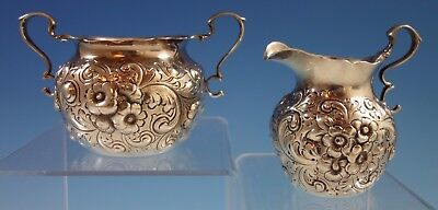 Repousse by Dominick & Haff Sterling Silver Sugar & Creamer Set #150 (#1877)