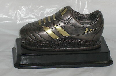 Heavy Football Boot Trophy ,engraved Free