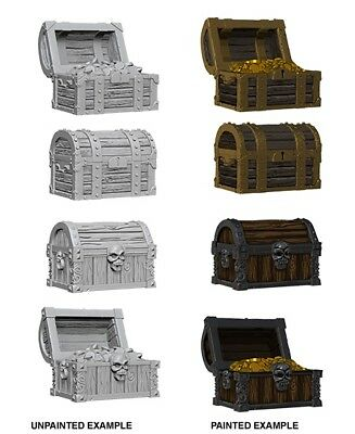 CHESTS 4 PACK - DUNGEONS & DRAGONS PATHFINDER UNPAINTED 4 x 25MM MINIATURES