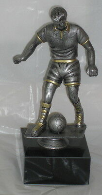 Football Trophy, 23 Cm Solid Resin Figurine On Black Marble, Engraved Free