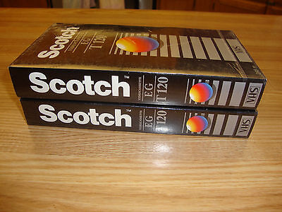 Lot Of Two Scotch Blank Vhs Video Tapes New Unopened 6 Hours