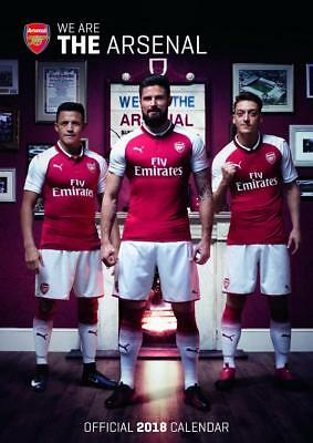 Arsenal Football Club Calendar 2018 Official Large A3 Size New + Sealed