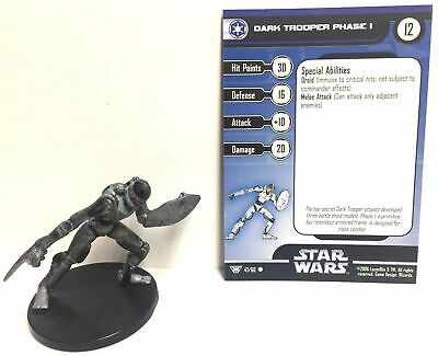 Star Wars Champions of the Force 47/60 Dark Trooper Phase I (C) Miniature