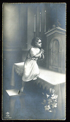 Antique Holy Card Communion Dated 1934