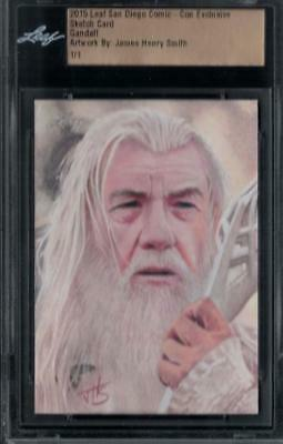 2015 Sdcc Comic-Con Exclusive James Henry Smith 1/1 Gandalf Sketch Card