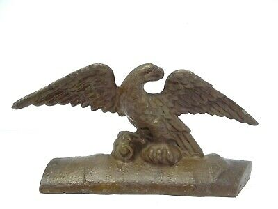 Antique Old Metal Cast Iron American Eagle Bust Decorative Doorstop Door Stop
