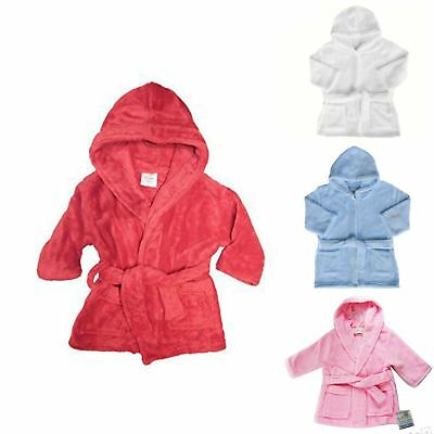 Girl's and Boy's Soft Touch Dressing Gown, Super Plush Luxury Fleece Robe
