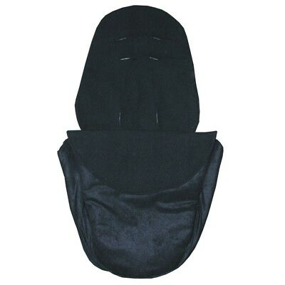 Hand Tailored Footmuff to fit Silver Cross Wayfarer, Surf or Pioneer - Black