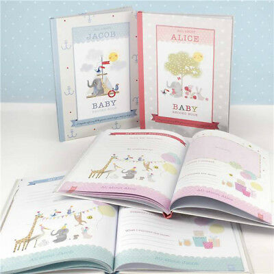 Personalised MILLY & FLYNN BABY RECORD BOOK New Baby Gift Baby Girl Baby Boy