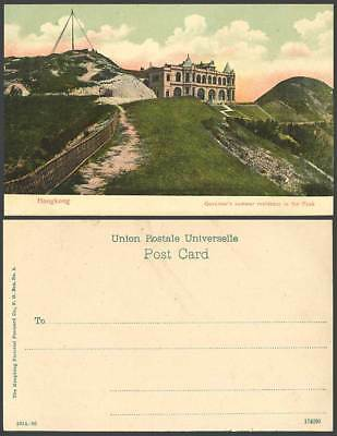 Hong Kong China Old Colour Postcard Governor's Summer Residence in the Peak U.B.