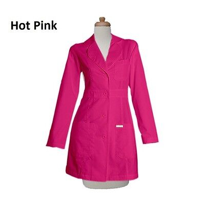 FREE CUSTOMIZATION Gesture Made Women 34 inch Fashionable Colored Lab Coats