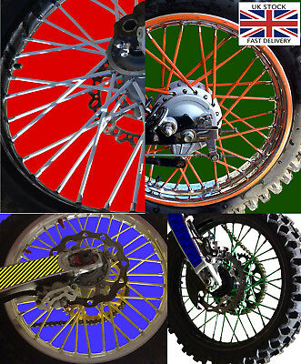 Motorcycle Dirt Bike Spoke Wraps-choice of colours and length.UK STOCK