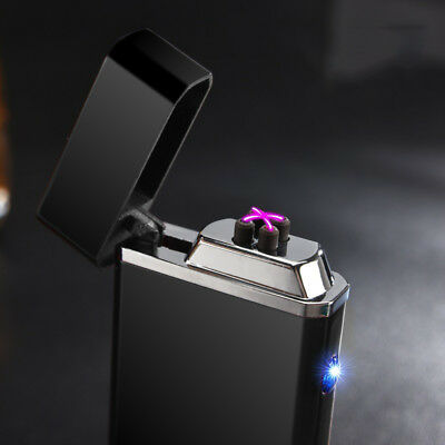 Rechargeable Windproof Electric Tesla Plasma USB Flameless dual arc Lighter