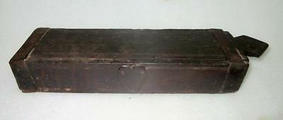 1850's Antique Old Collectible Rare Hand Carved Wooden Weight Scale Storage Box