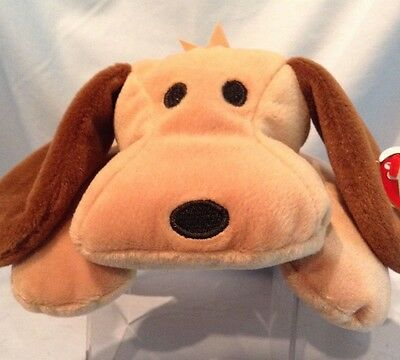 Ty Pillow Pal Woof brown dog #3003 all ages Retired $7.99