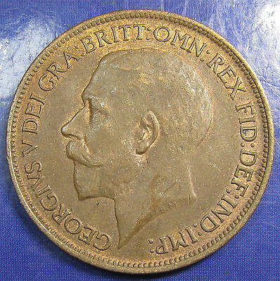 1918 ½d George V bronze Halfpenny in a lovely high grade