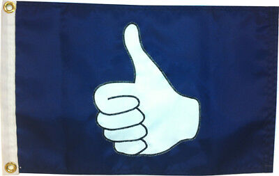 "12""x18"" Thumbs Up / Thumbs Down Flag - High Quality Hand Sewn in the USA"