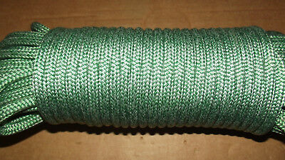 "5/16"" (8mm) x 115' Halyard Line, Dyneema Double Braid Line, Boat Rope -- NEW"