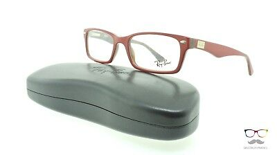Ray Ban Eyeglasses RB 5206 5130 Burgundy / Wood Authentic New 52mm