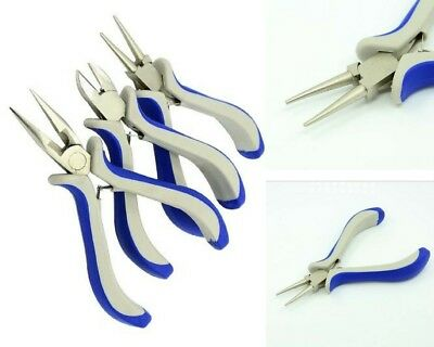 3pc JEWELERS PLIERS SET Jewelry Making Tools Round Repair Nose Wire Side Cutters