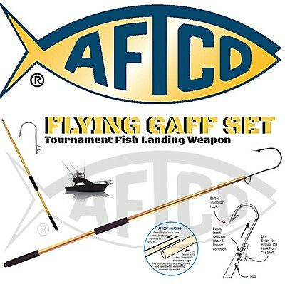 Aftco Flying Gaff Set / Tapered Tip Aluminium Gaff With Flying Hook
