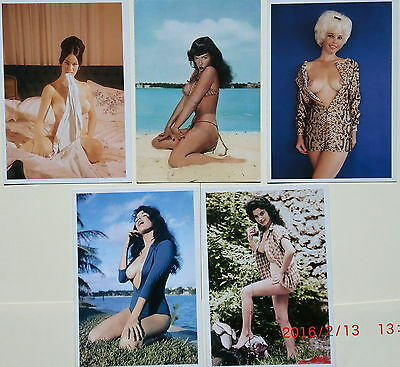 LOTE 10 Postales de BUNNY YEAGER (Bettie Page) Pin Up Out of print 10 postcards