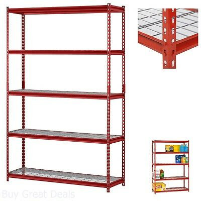 Steel Shelving Unit 5-Shelf 4000 Lb Total Weight Capacity Storage Rack 48x72x18I